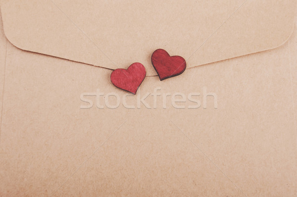envelope with hearts - vintage toning Stock photo © Es75