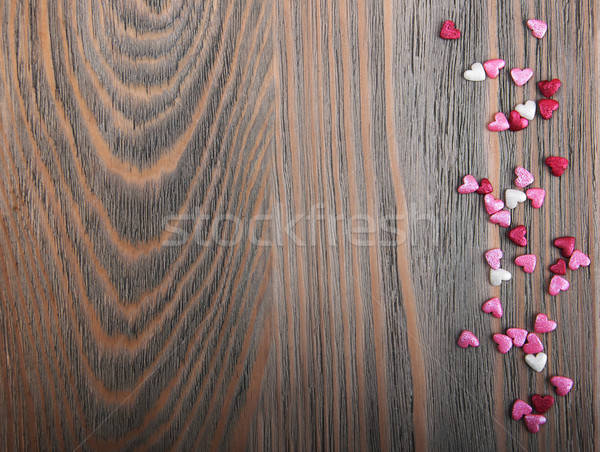 Stock photo: Red hearts shapes