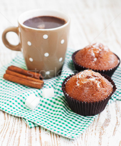 cappucino and chocolate muffins  Stock photo © Es75