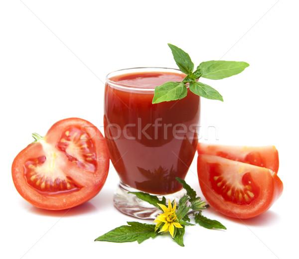 トマトジュース ガラス 新鮮な トマト 自然 葉 ストックフォト © Es75