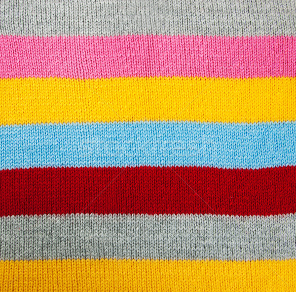 striped knitted texture Stock photo © Es75