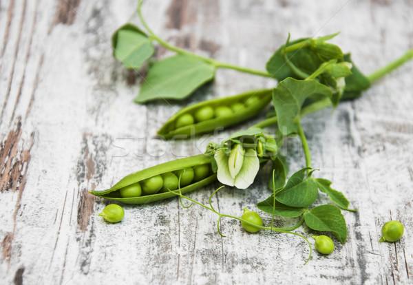 綠色 豌豆 葉 花 老 木 商業照片 © Es75