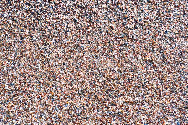 Kavicsok tengerpart színes absztrakt tenger háttér Stock fotó © Es75
