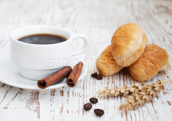 Croissant  with Coffee Stock photo © Es75