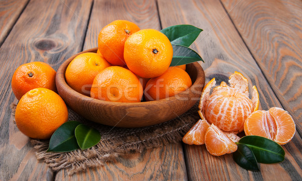 Juicy orange tangerines Stock photo © Es75