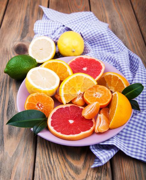 Fresh citrus fruits Stock photo © Es75