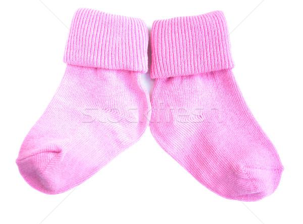 Baby socks on white Stock photo © Es75