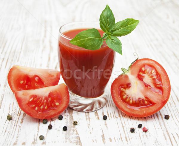 Tomatensap glas vers tomaten natuur blad Stockfoto © Es75