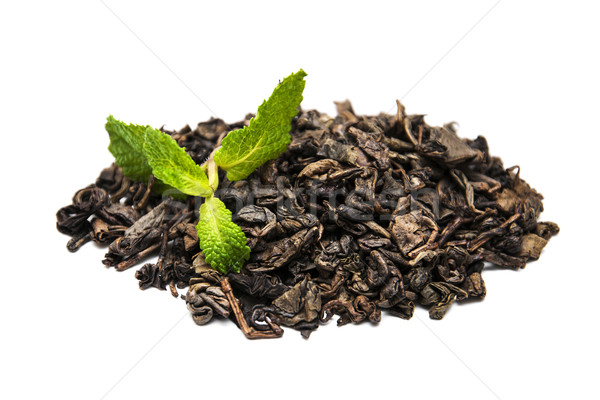 Green tea with mint leaf  Stock photo © Es75