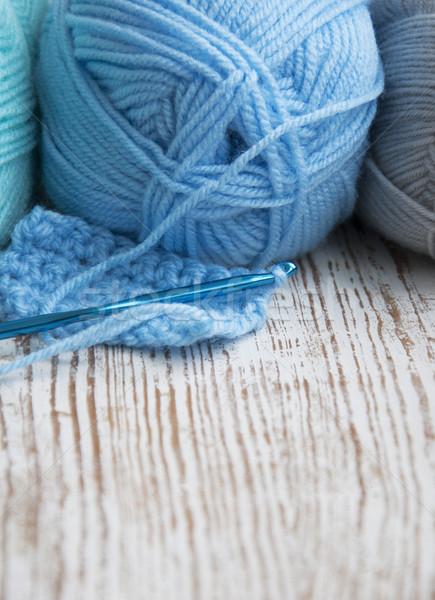 Crochet hook and knitting yarn Stock photo © Es75