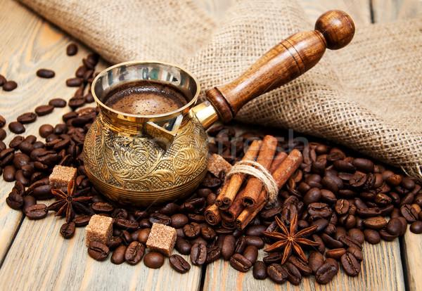 coffee in a  metal turk Stock photo © Es75