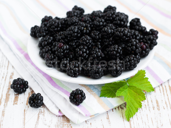 Plate with Blackberries Stock photo © Es75