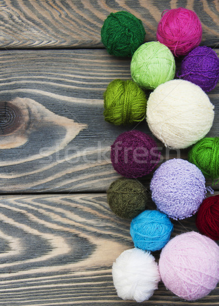 Color woolen clews Stock photo © Es75