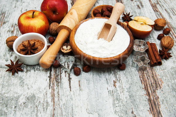 ingredients for apple pie Stock photo © Es75