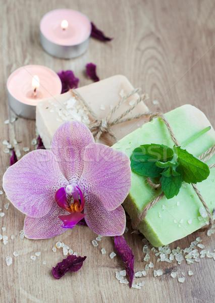 Сток-фото: Spa · набор · Орхидеи · природного · цветок · высушите