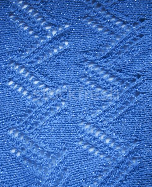 шерсти шаблон красивой синий стороны красоту Сток-фото © Es75