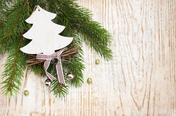 Natal decoração árvore de natal ramo árvore Foto stock © Es75