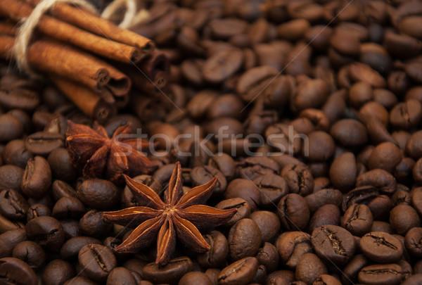 Stock fotó: Kávé · fűszer · fahéj · csillag · ánizs · étel