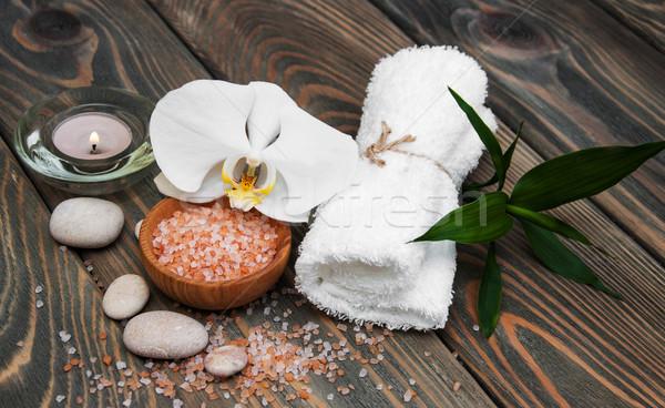 Foto stock: Orquídeas · estância · termal · natureza · morta · flores · toalhas