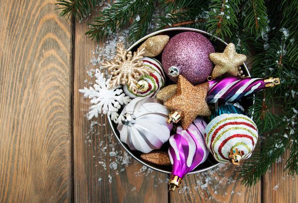 christmas decoration baubles Stock photo © Es75