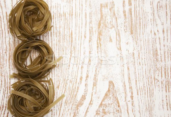 Tagliatelle Italiaans pasta houten voedsel graan Stockfoto © Es75