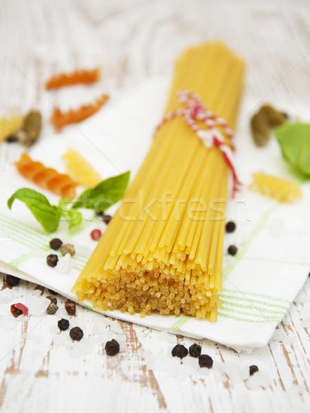 Italiana ingredienti pasta verdura spezie legno Foto d'archivio © Es75