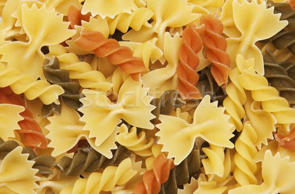 different flavors of fusilli twirls pasta Stock photo © Es75