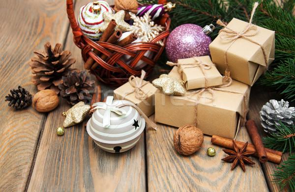 корзины Рождества старые дизайна снега Сток-фото © Es75