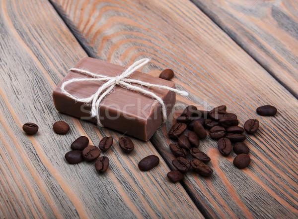 Kaffee duftenden Seife Holz Natur Stock foto © Es75