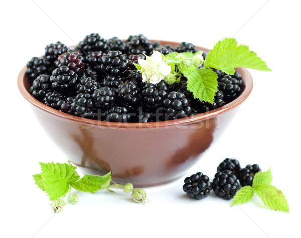 Bowl of Blackberries Stock photo © Es75