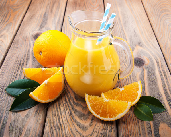 Jug with orange juice Stock photo © Es75