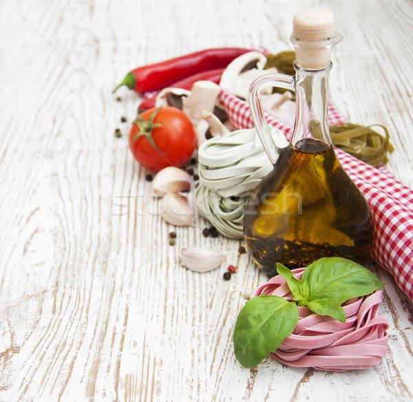 Ingredients for Italian pasta Stock photo © Es75
