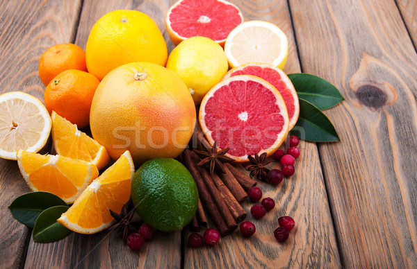 Fresh citrus fruits with spices Stock photo © Es75