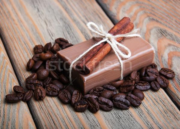 Feito à mão café perfumado sabão corpo Foto stock © Es75