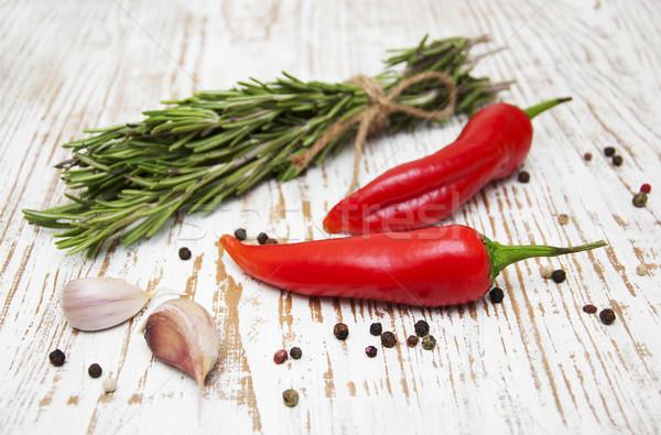 Romero · pimienta · ajo · verano · cocina - foto stock © Viktor ...