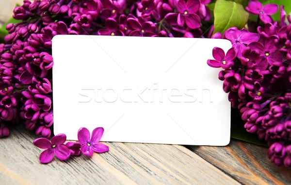 сирень цветы пусто карт старые Сток-фото © Es75