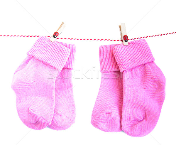 Baby socks on white Stock photo © Es75