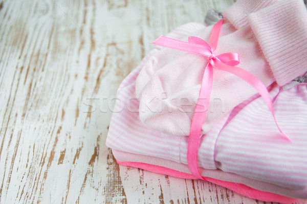 Stock photo: newborn baby clothes