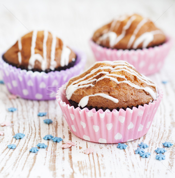 Delicioso caseiro bolo café da manhã Foto stock © Es75