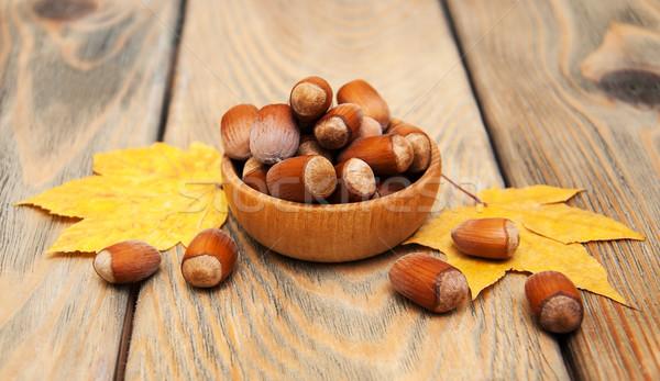 Bowl with hazelnuts Stock photo © Es75