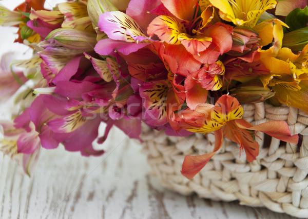 букет цветы корзины цветок древесины Сток-фото © Es75