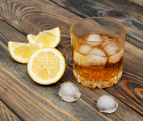 Scotch on wooden background Stock photo © Es75