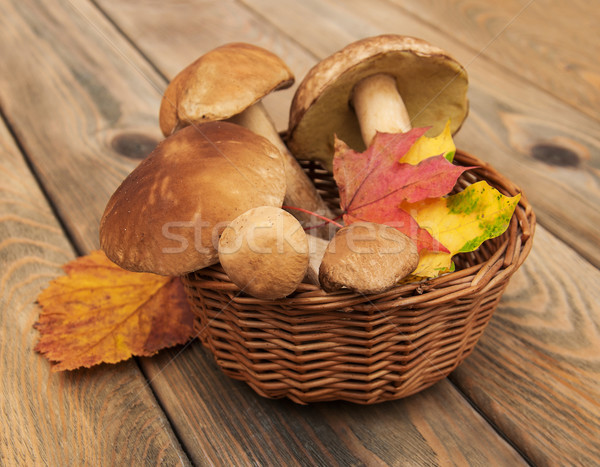 boletus mushrooms in a basket Stock photo © Es75