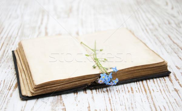 Libro viejo flores libros fondo belleza Foto stock © Es75