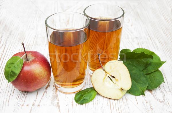 Almalé friss almák fából készült étel alma Stock fotó © Es75