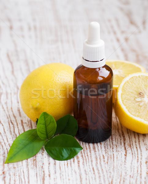 Aromaterapia limão naturalismo natureza vidro Foto stock © Es75