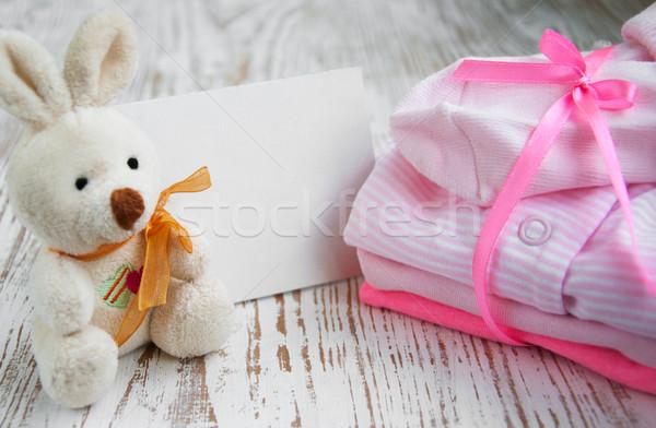 newborn baby greeting Stock photo © Es75