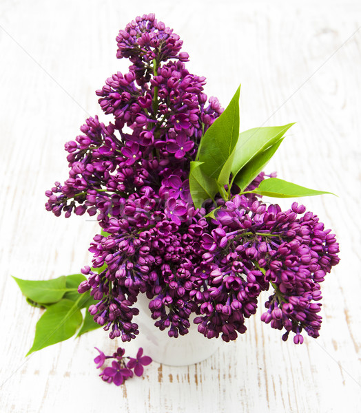 Foto stock: Verano · lila · flores · jarrón · flor