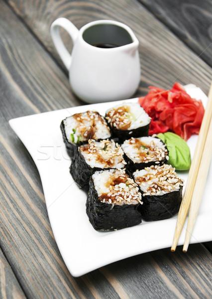Японский суши пластина wasabi имбирь Сток-фото © Es75