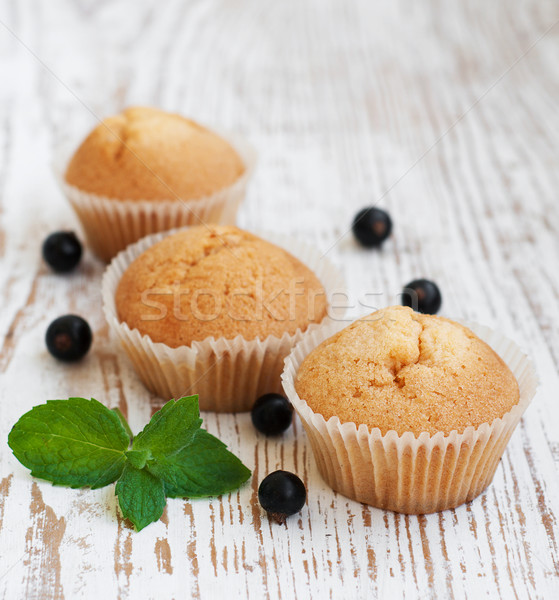 Muffin and black currants Stock photo © Es75